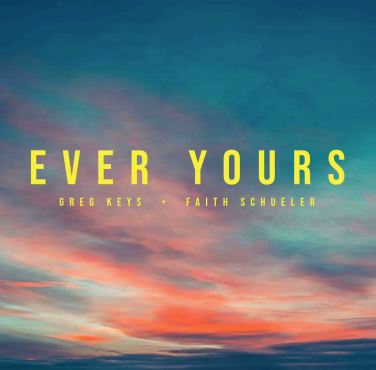 This is the title of the song Ever Yours spread over a background of the sky.