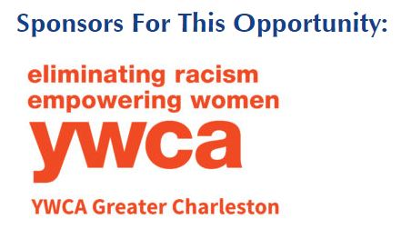 This is the logo for the Kind Neighbor Nomination sponsor YWCA of Greater Charleston on a white background with blue and red lettering.