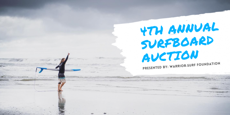 WARRIOR SURF FOUNDATION 4TH ANNUAL SURFBOARD AUCTION